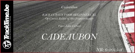 Cadeaubon Race Cursus Voor Beginners XL - Leren Racen Op Circuit Zolder of Spa Francorchamps
