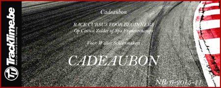 Cadeaubon Race Cursus Voor Beginners Circuit Spa Francorchamps Zolder