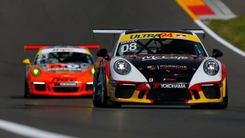 met 991 gt3 cup race porsche rijden op circuit